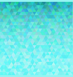turquoise abstract triangles background vector image vector image