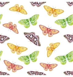 Watercolor butterflies pattern vector