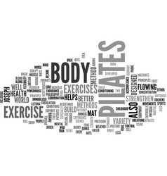 What is pilates text word cloud concept vector