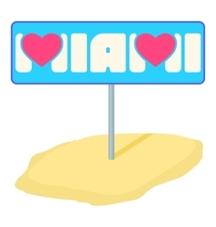 Miami pointer icon cartoon style vector image