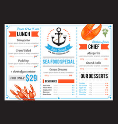 Sta food restaurant menu template design vector