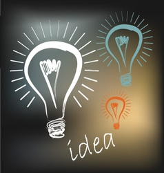 Light idea vector