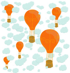 Balloons and clouds vector