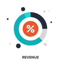 revenue vector image