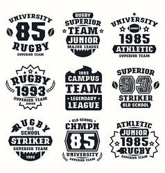 Rugby team badges vector