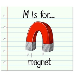 Alphabet m is for magnet vector