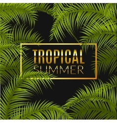 Tropical summer design poster template summer vector