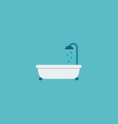 bathtub icon flat element of vector image vector image