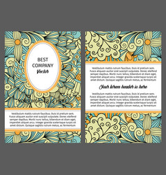 brouchure with ethnic decorative pattern vector image