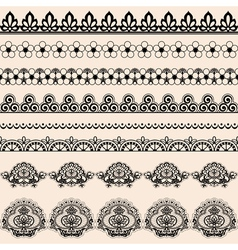 Brush lace vector