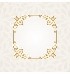 Calligraphic frame vintage elegant text vector image