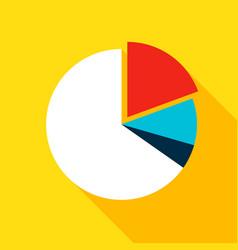Chart pie flat icon vector