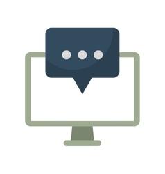 Computer communication message bubble speak vector