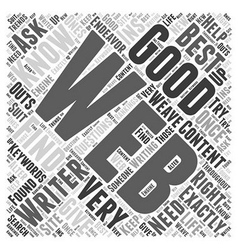 Content for web word cloud concept vector