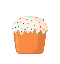 easter cake icon in flat style vector image vector image