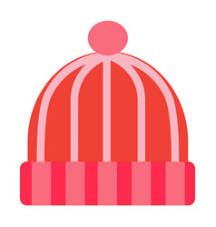 flat color snow hat icon vector image vector image