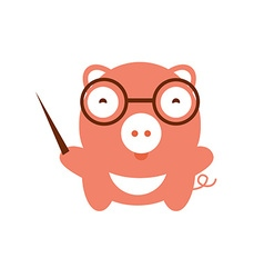 Funny character baby pig vector image vector image