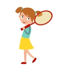 Good looking tennis player vector image vector image