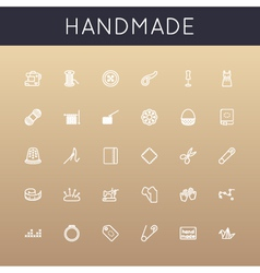 Handmade Line Icons vector image vector image