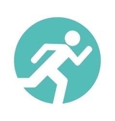 Human silhouette exercising icon vector