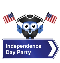INDEPENDENCE DAY PARTY SIGN vector image