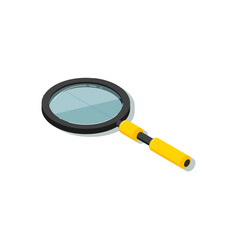 isometric magnifying glass isolated vector image