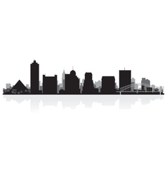 Memphis USA city skyline silhouette vector image vector image