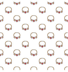 Necklace pattern seamless vector