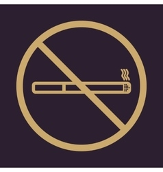 No smoke icon stop smoking symbol vector