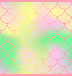 pastel fish skin with scale pattern mermaid tail vector image