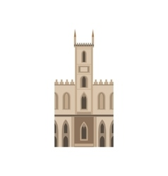 Saint joseph church as a national canadian culture vector