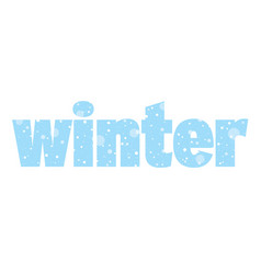 Seasonal banner with word winter and snow vector