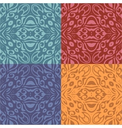 Set of colorful patterns seamlessly tiling vector image vector image