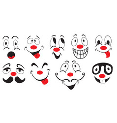 set of funny mood icons vector image vector image