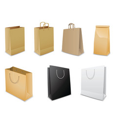 Set of vector paper bags vector
