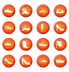 Shoe icons set vector