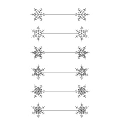 snowflakes divier design vector image