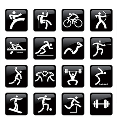 Sport web icons buttons vector