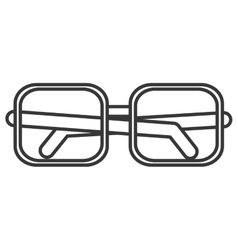 Square frame glasses icon vector