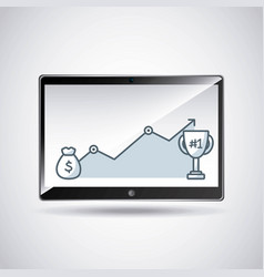 Tablet technology device icon vector
