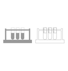 test tube grey set icon vector image vector image