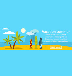 vacation summer banner horizontal concept vector image