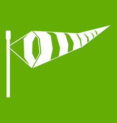 Windsock icon green vector