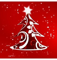 Xmas tree abstract background vector