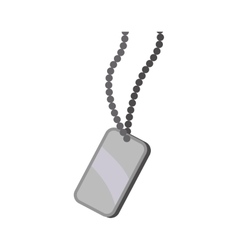 Necklace armed forces military icon vector