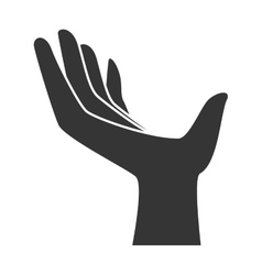 Human hand silhouette icon vector