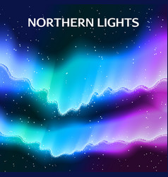Starry northern lights background vector