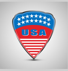 Usa shield emblem vector