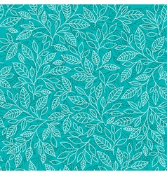 Stylized leaves on a blue background vector