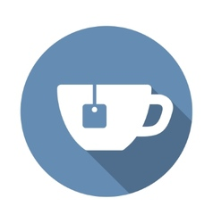 Tea cup icon in flat style vector